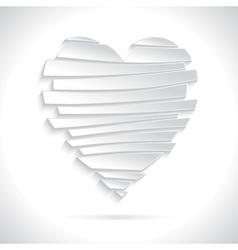 White Broken Heart vector image vector image
