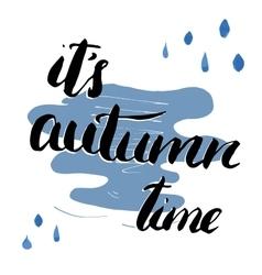 Autumn season lettering Hand drawn vector image vector image