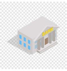 bank building isometric icon vector image