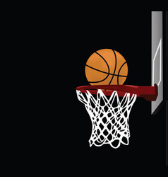 basketball with a hoop vector image