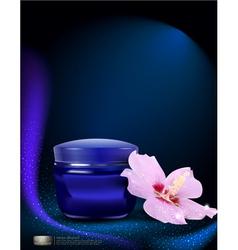blue jar of cream vector image vector image