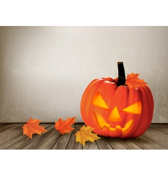 Halloween background with a Jack O Lantern vector image
