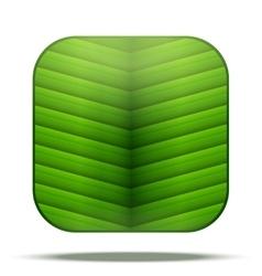 Leaf Square Icon vector image