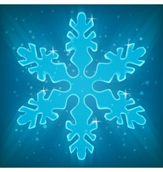 Shiny Snowflake vector image vector image