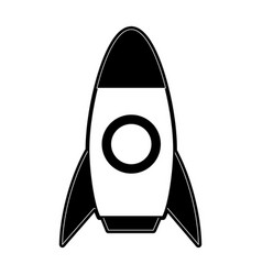 space rocket icon image vector image