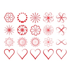 Day of Valentine symbols vector image vector image