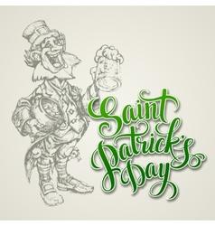 leprechaun St Patricks Day vector image