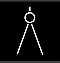 Pair of compasses the white color icon vector