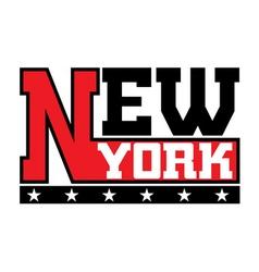 T shirt typography stars New York city vector image