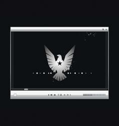 video screen vector image vector image