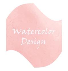 Watercolor peach color vector image vector image