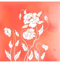 Abstract poppies vector