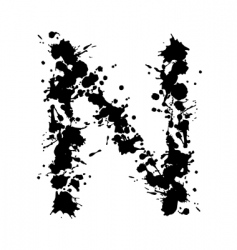 alphabet ink n vector image