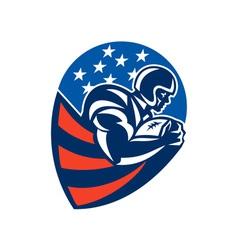 American Football Rushing Running Back vector