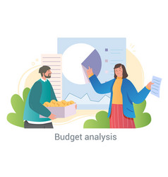 analysis of income and expenses concept vector image