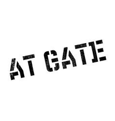 At gate rubber stamp vector