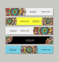 Banners design floral mandala vector