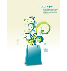 Beautiful bag with place for text vector image