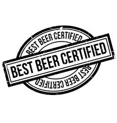 Best beer certified rubber stamp vector