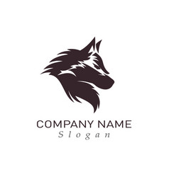 Black wolf design vector