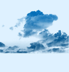 Blue cloud background vector