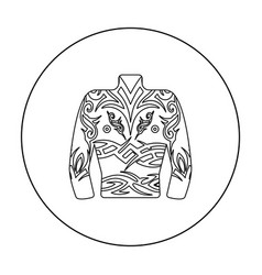 Body tattoo icon outline single tattoo icon from vector