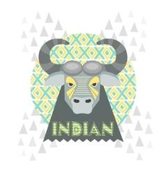 Buffalo gray vector