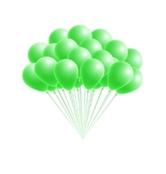 bunch birthday or party green balloons vector image