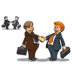 businessmen meeting vector image