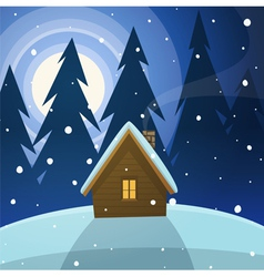 Cabin in the woods vector