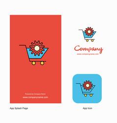 cart setting company logo app icon and splash vector image