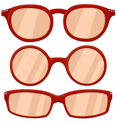 Cartoon icon poster woman red glasses spectacles vector