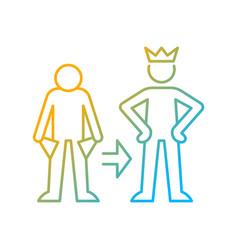 Change motivation gradient linear icon vector