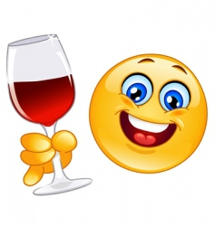 cheers emoticon vector image