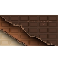 Chocolate bar with broken ends vector