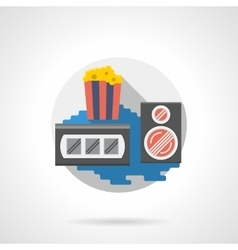 Cinema popcorn color detailed icon vector image