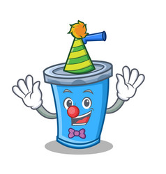 Clown soda drink character cartoon vector