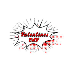 Comic collection word valentines day 3d colored vector