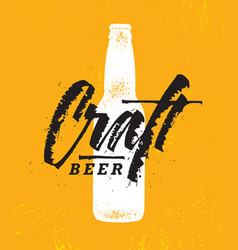craft beer brewery artisan creative stamp vector image