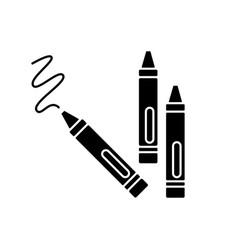 Crayons black glyph icon vector