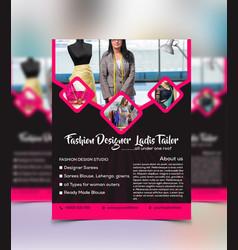custom fashion tailor flyer template vector image