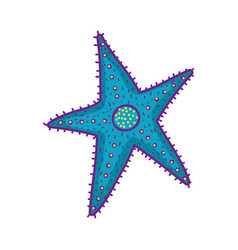 Cute starfish isolated icon vector