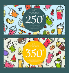 doodle smoothie discount or gift vector image