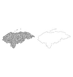 dot contour map of honduras vector image