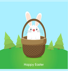 Easter bunny in flat style vector