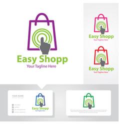easy shop touch logo designs vector image