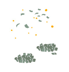 falling money dollar piles set vector image