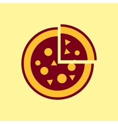 fast food icon pizza pictograph vector image