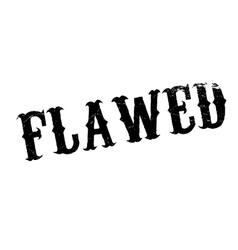 Flawed rubber stamp vector