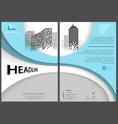 flyer template with geometric design vector image